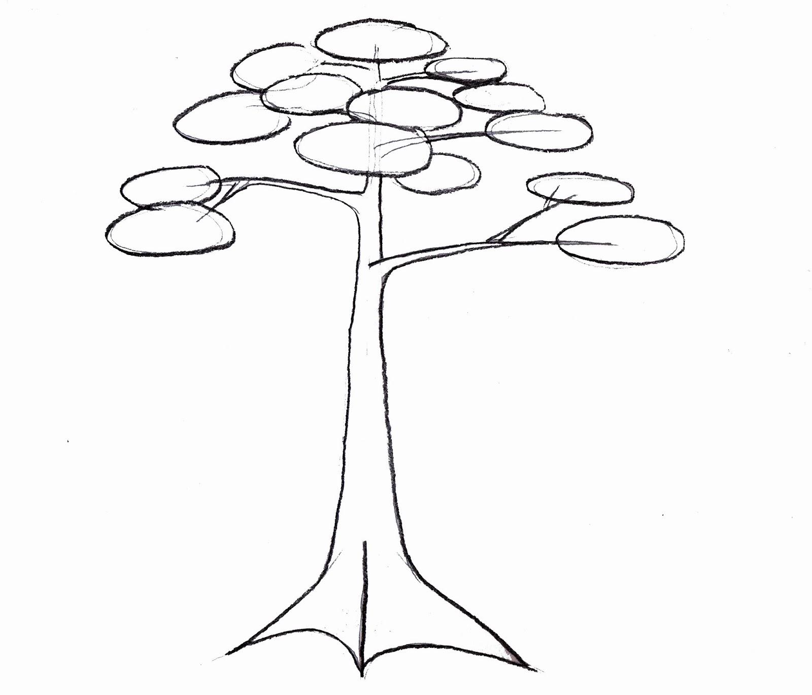 Sketsa Gambar Pohon Beringin