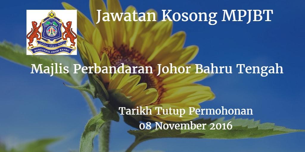 Jawatan Kosong MPJBT 08 November 2016