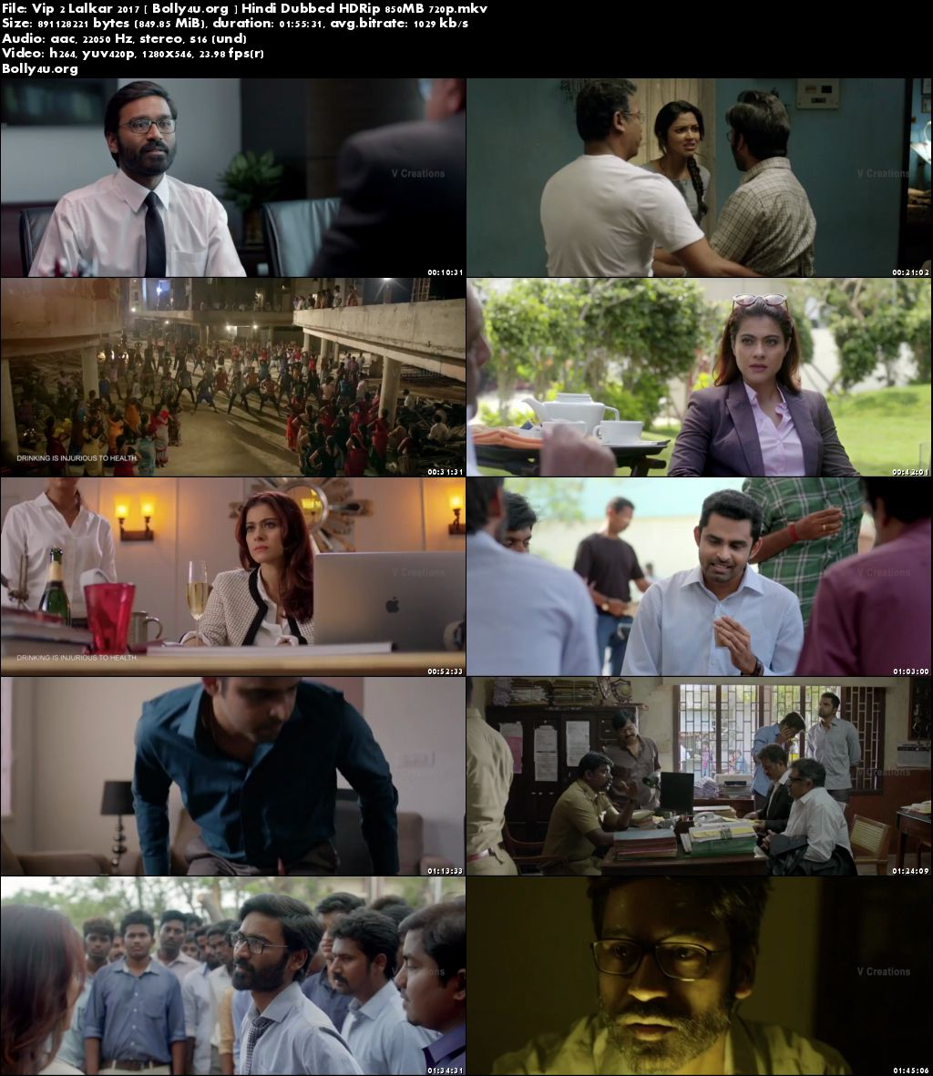 VIP 2 Lalkar 2017 HDRip 850MB Full Hindi Dubbed Movie Download 720p