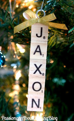 Craft Project: Scrabble Tile Personalized Christmas Ornaments