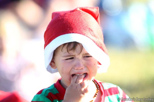 Hunter Mudd, 2, Napier, at Cox Partners Hawke's Bay Christmas at the Park, Hawke's Bay A&P Showgrounds, Hastings. photograph