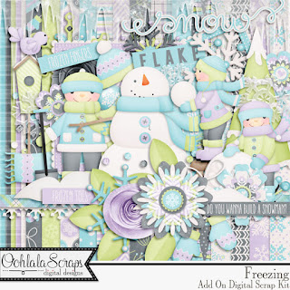 Creative Team, Annemarie, for GingerScraps -  Freezing Add On, Ooh La La Scraps