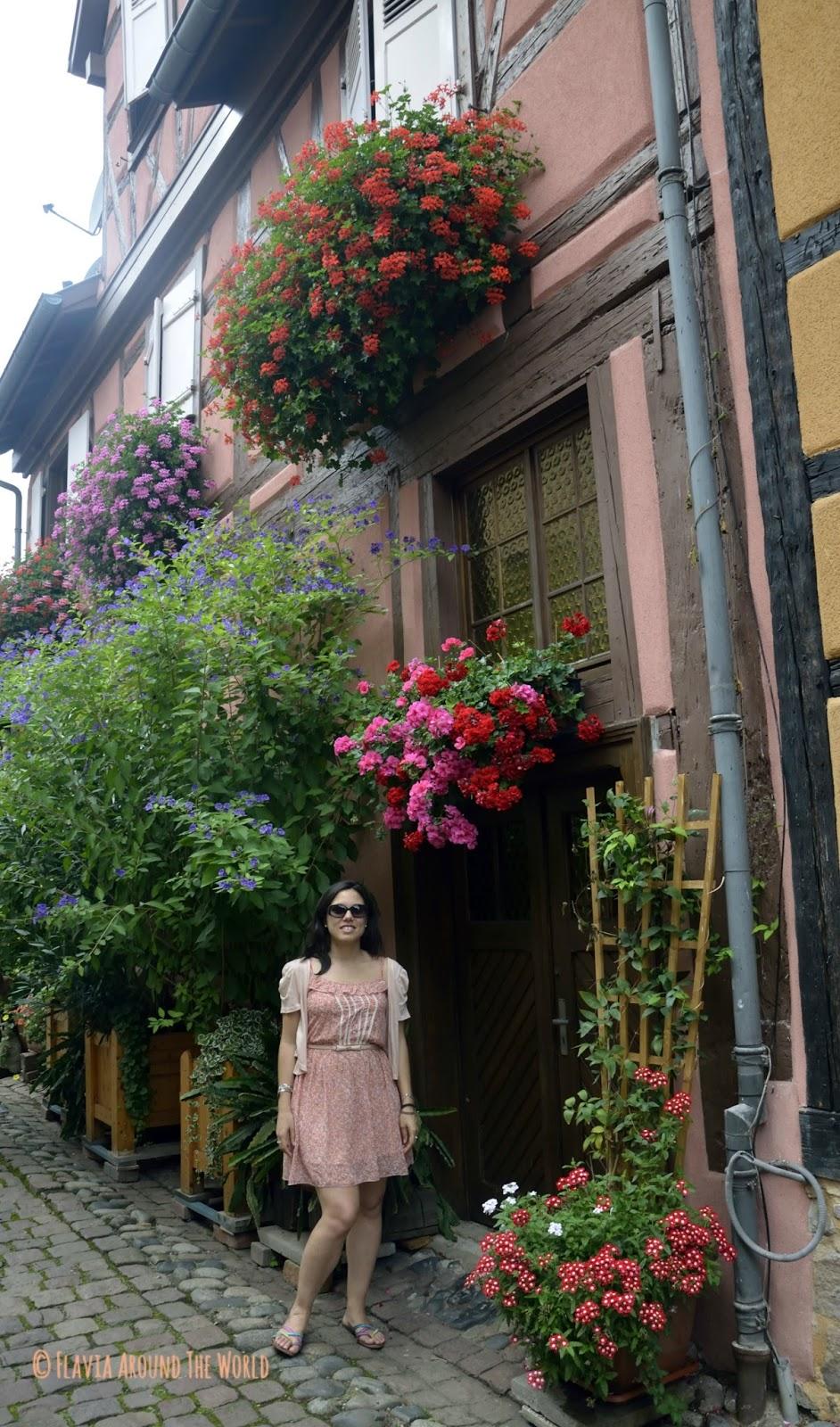 Casa muy florida de Eguisheim
