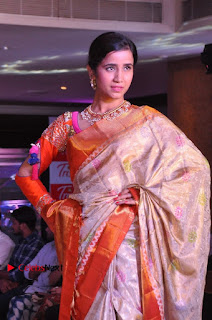 South Indian Celebrities Pos at Love For Handloom Collection Fashion Show  0044.jpg