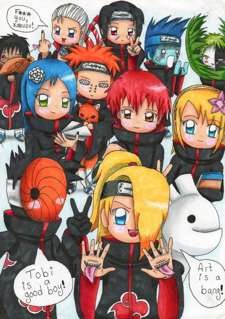 Cute Wallpaper Images For Facebook Naruto Wallpaper Akatsuki Chibi Blokufo