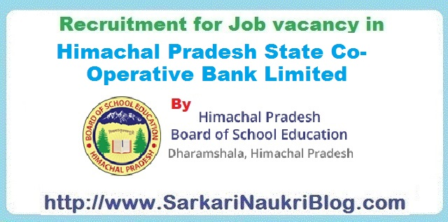 Naukri Vacancy Recruitment HPSCB by HPBSE