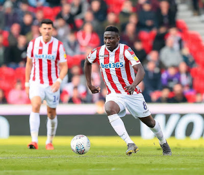 Oghenekaro Etebo Wins Stoke City's 'Player Of The Year' Award
