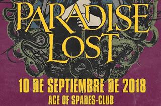 Concierto de PARADISE LOST en Bogotá 2018