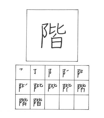 kanji lantai