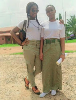 a  Nysc corper lady on skirt