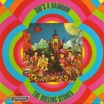 Portada del single She's a rainbow de los Rolling Stones