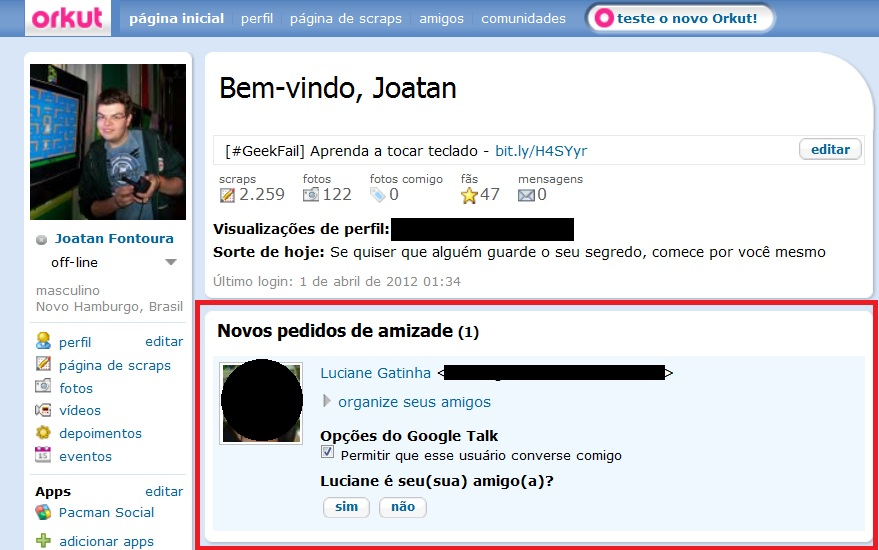 fail primeiro de abril orkut joatan fontoura