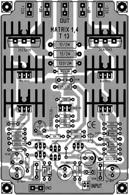 PCB Layout Design Power Amplifier Matrix 1.4