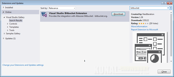 Visual Studio Extensions and Updates