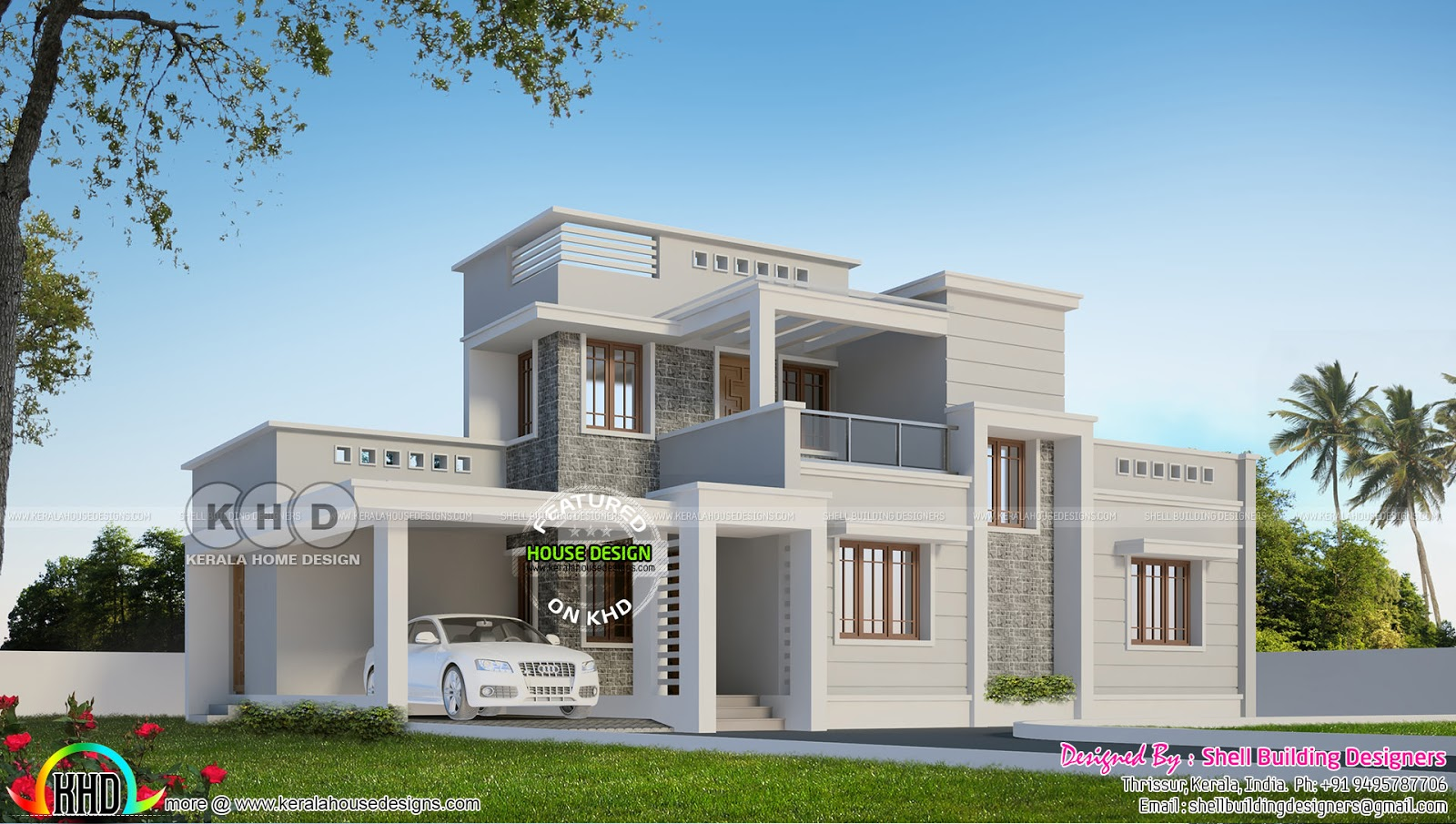 1958 Sq-ft Finished House With Its 3d Rendering