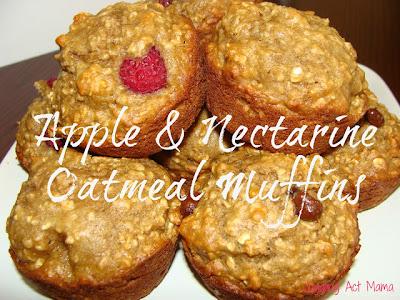 Juggling Act Mama: Nectarine Apple Oatmeal Muffins