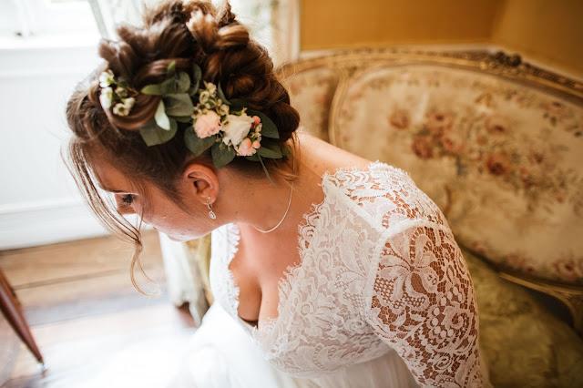 coiffure mariage, La petite boutique de fleurs, fleuriste mariage Lyon