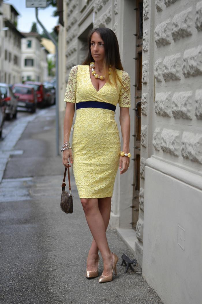 Vestito laurea giallo