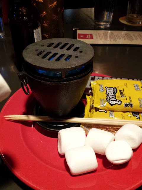 Tableside S'mores at Amos Mosquito's in Atlantic Beach, N.C.