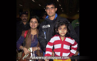 Sourav Ganguly and his wife Dona Ganguly and their girl