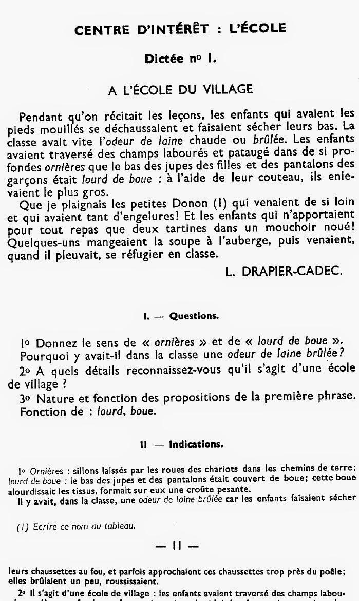 Manuels Anciens Pieuchard 100 Nouvelles Dictees Au Cep