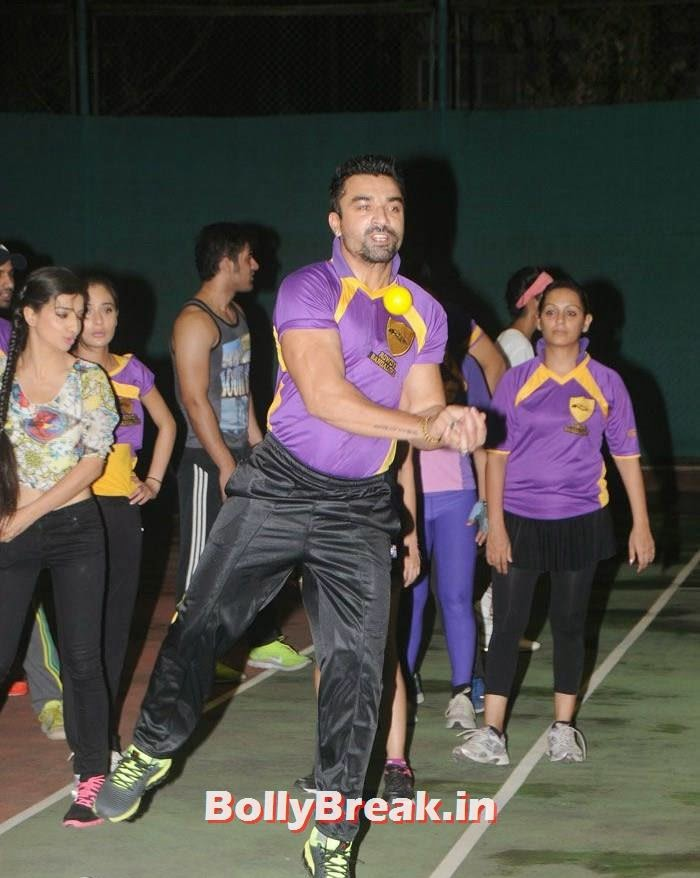Ajaz Khan, Pics from BCL Team Rowdy Bangalore Practice Match
