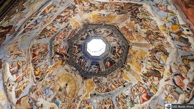Teto da Cúpula da catedral Santa Maria del Fiori - Roteiro: 2 dias em Florença