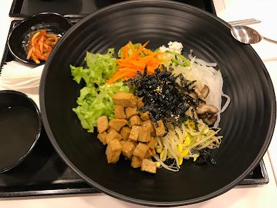 Paik's Bibim, marinated tofu bibimbap