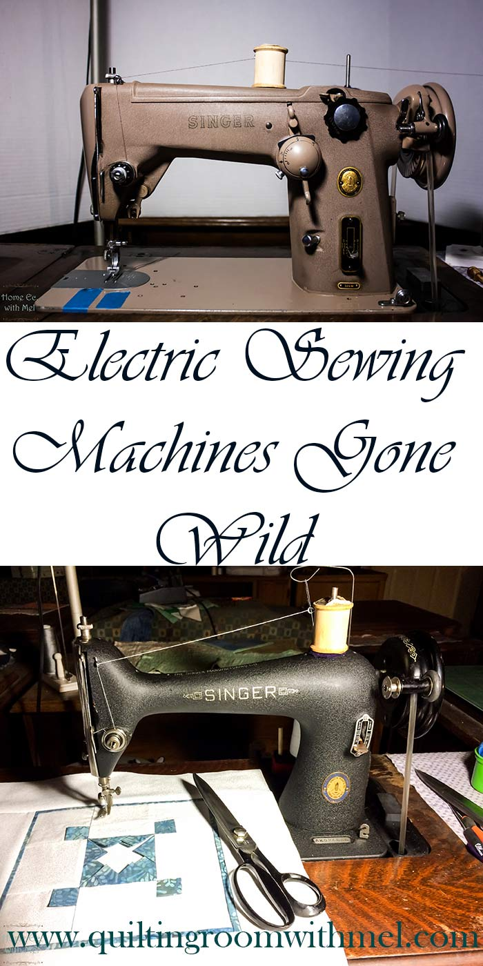 vintage electric sewing machines become treadle sewing machines