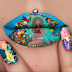 Check out this lip design of a pregnant Beyonce