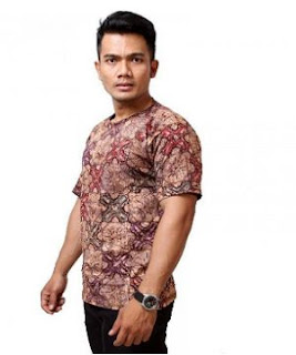 Contoh Gambar Kaos Batik Modern