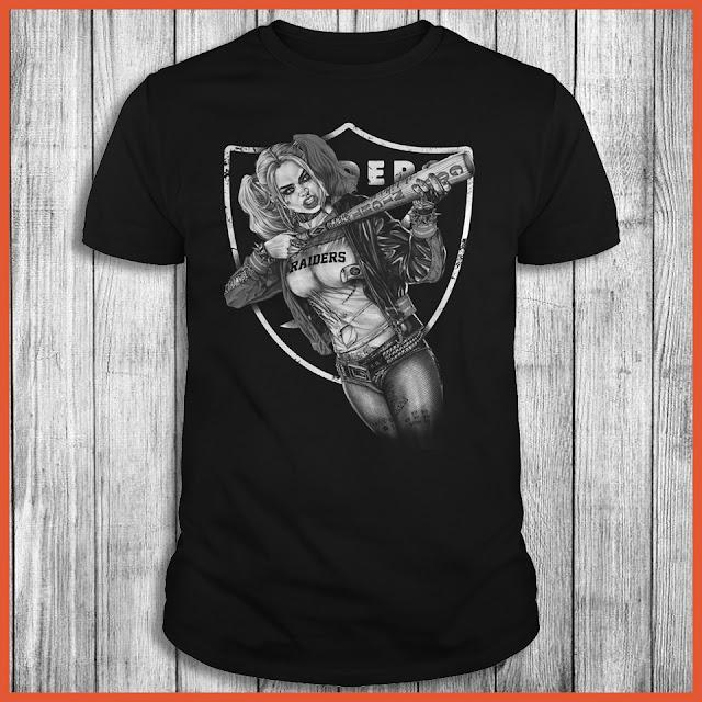 Oakland Raiders Harley Quinn T-Shirt