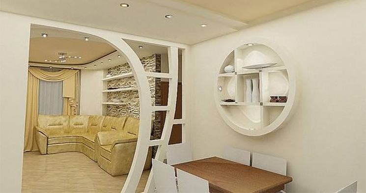 Wall Design Gypsum : Decorative plasterboard wall designs and room dividers