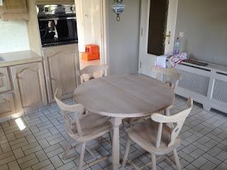 tafel en stoelen renoveren