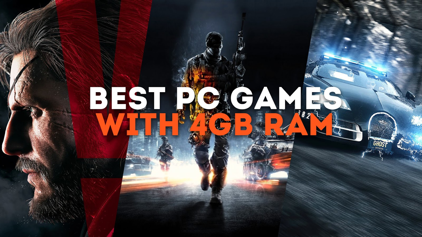 List of known HD PC Games That Can be Played With 4GB of RAM