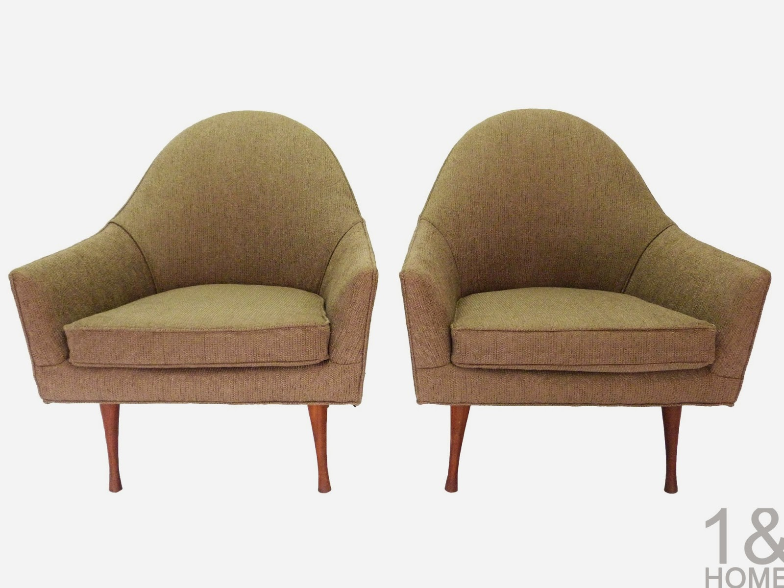 Paul McCobb for Widdicomb Mid-Century Modern Symmetric Lounge Chairs