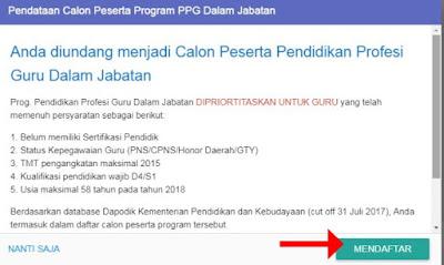 Mendaftar PPG