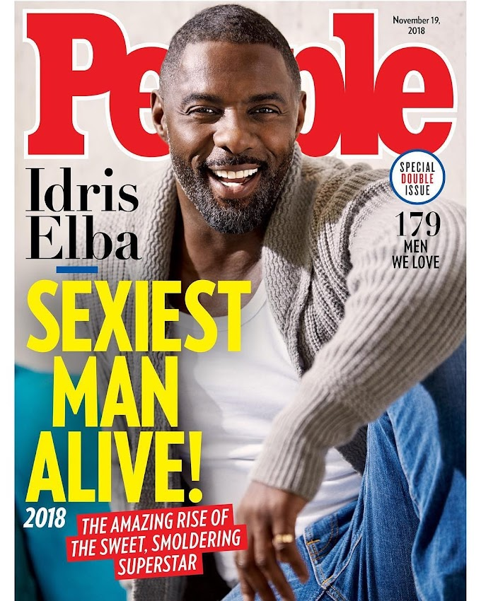 Idris Elba Is @People's 2018 #SexiestManAlive! Do You Agree?