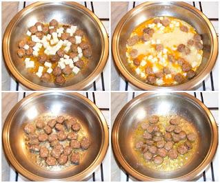 Omleta cu carnati preparare reteta,