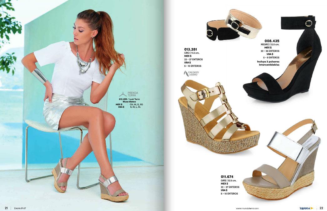 Nuevo catalogo de zapatos damas mundo terra 2017 pv for Zapatos por catalogo