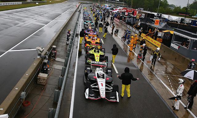 FÓRMULA INDY: Chuva forte suspende o Honda Indy Grand Prix do Alabama na 23ª volta