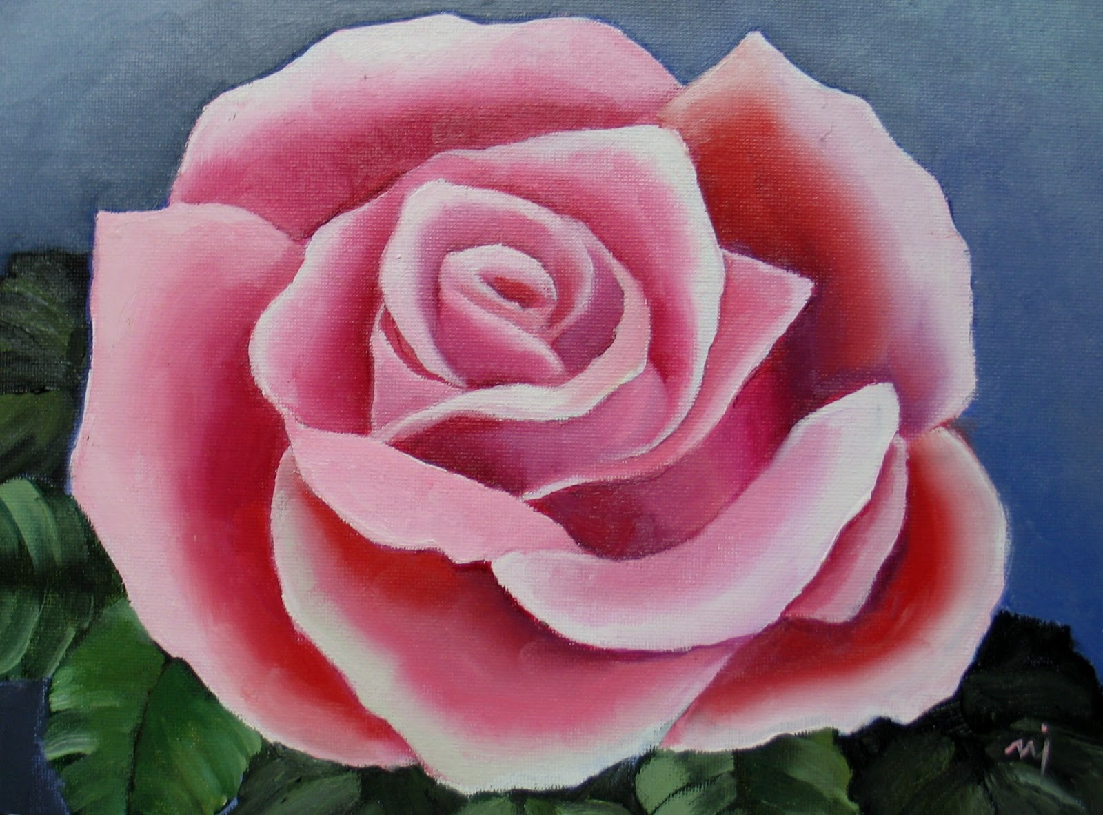 How To Paint A Rose On Canvas