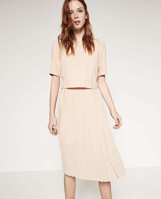 zara peach dress, peach layer midi dress,
