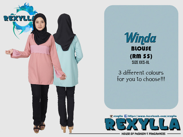 rexylla, blouse, pleats design, winda collection