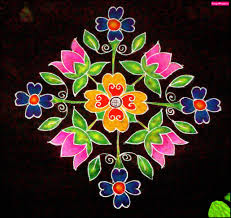 Lotus Flower Rangoli Designs