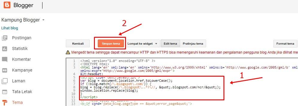 Cara Mengganti Blogspot.co.id Tetap Blogspot.com
