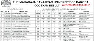 MS University CCC Result 2016 Declared