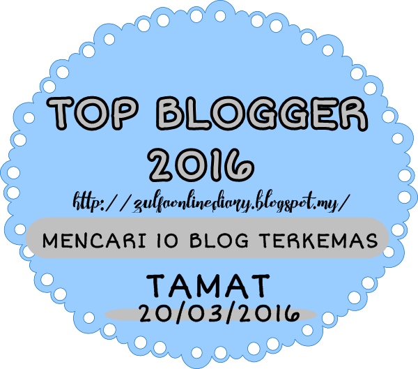 Segmen TOP BLOGGER 2016 by NURZULFA