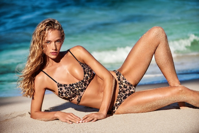 Hannah Ferguson is a bombshell for the KikiRio Swimwear Spring 2017 Lookbook