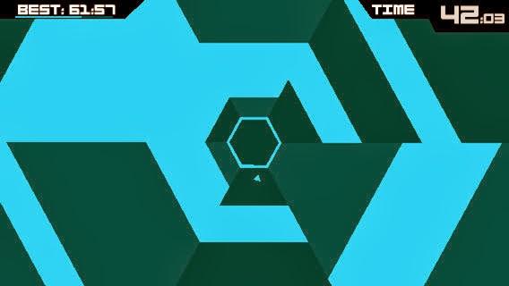 Jugando a Super Hexagon en Android, iPad, iPhone y iPod